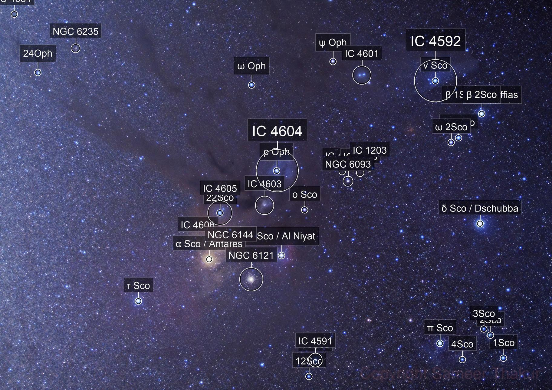 Antares & Rho Ophiuchus Region