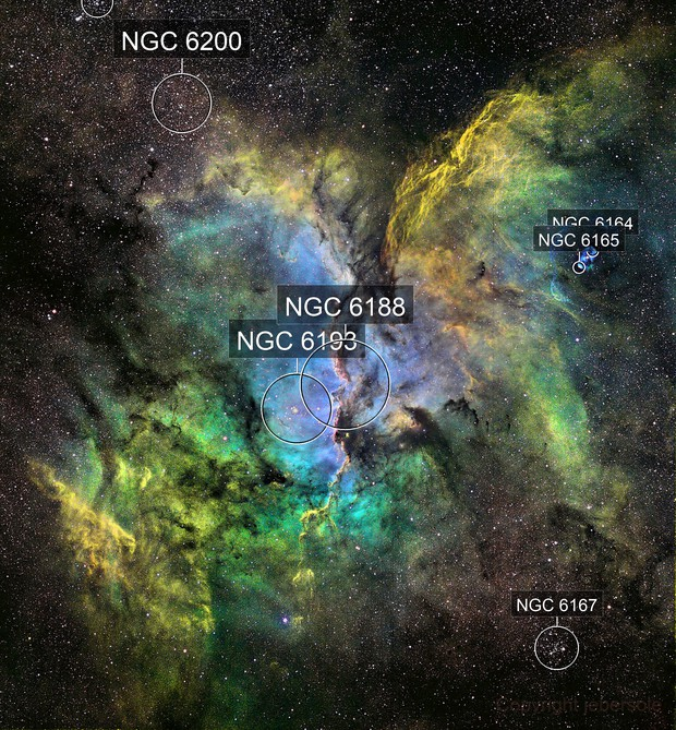 NGC6188 Widefield in HST Palette