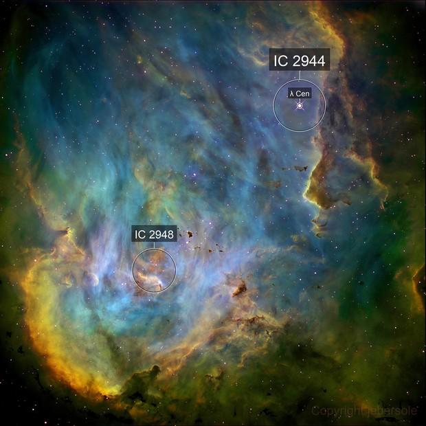 IC2944, Running Chicken Nebula
