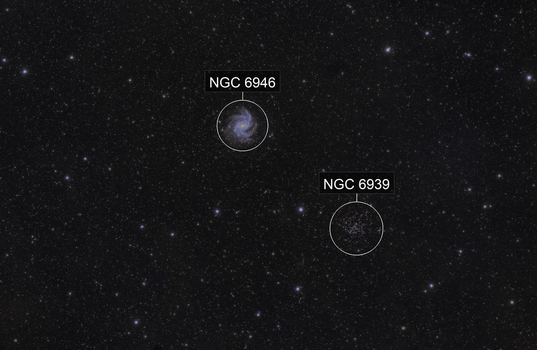 NGC 6939, NGC 6946