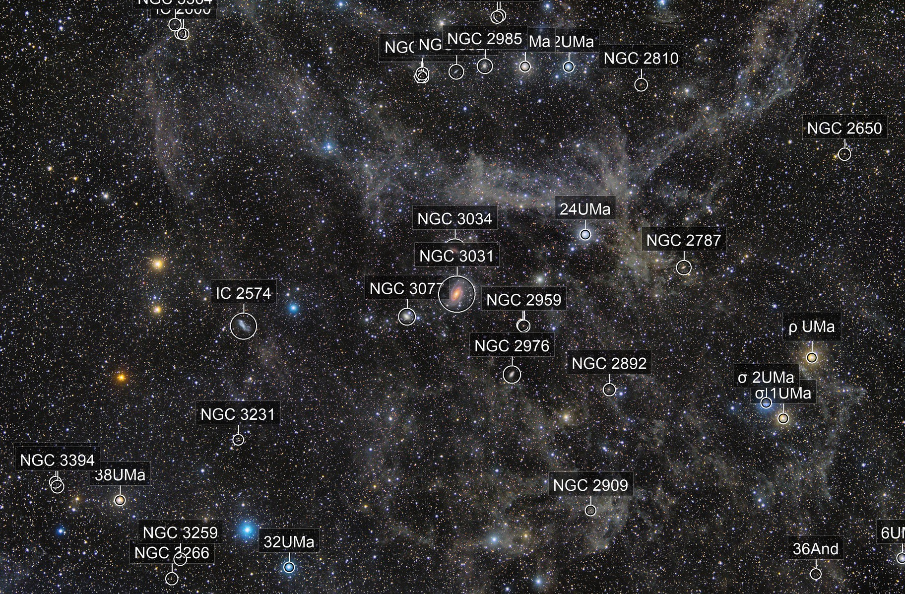 Integrated Flux Nebula and a couple of old friends M81 & M82