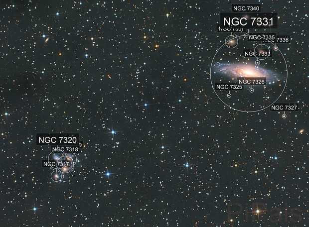 Quintette de Stephan & NGC 7331