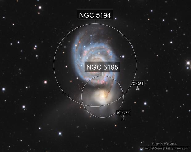 M51 Whirlpool Galaxy in L(R+HA)GB