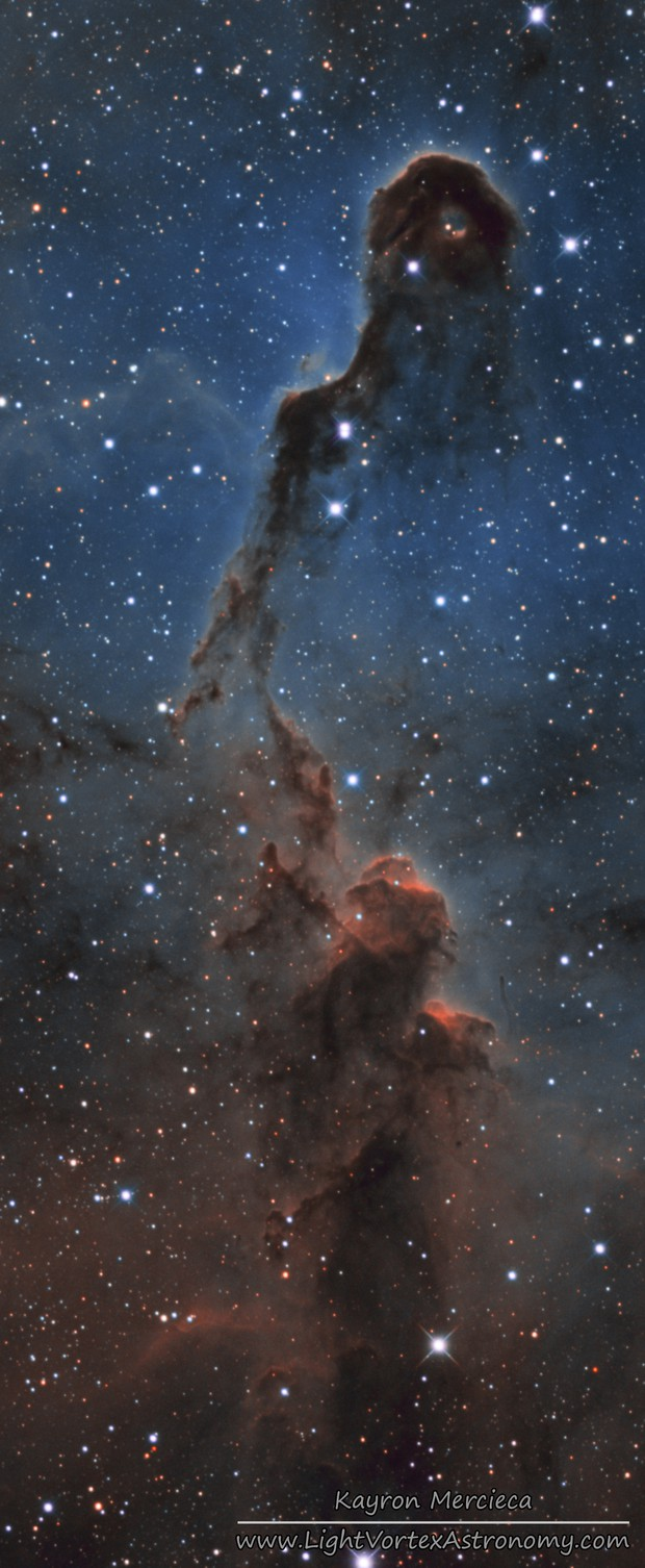 IC1396 Elephant Trunk Nebula in Narrowband Hubble Palette