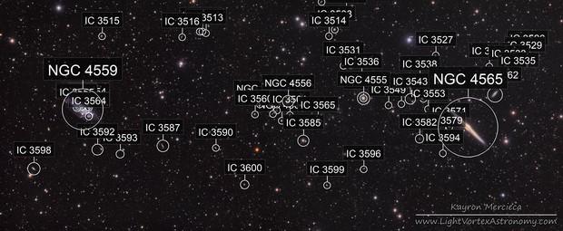 NGC4559 and NGC4565 Needle Galaxy in LRGB
