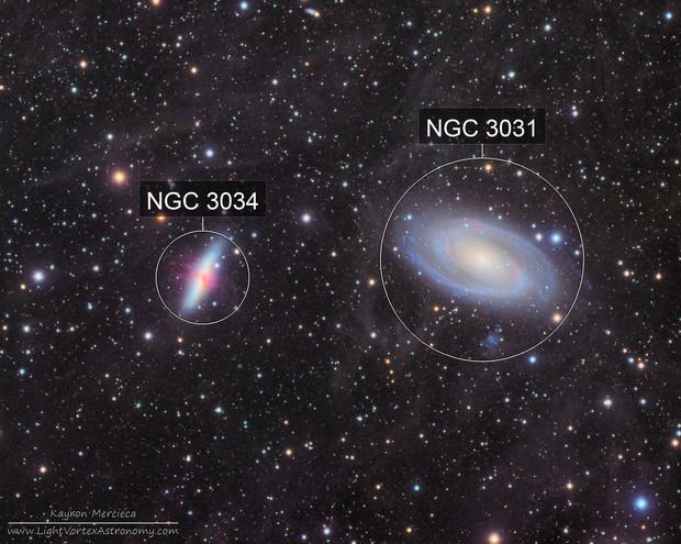 M81 and M82 Bode's Nebula in L(R+HA)GB