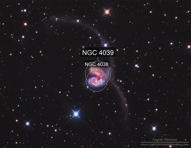 NGC4038-NGC4039 Antennae Galaxies in LRGB