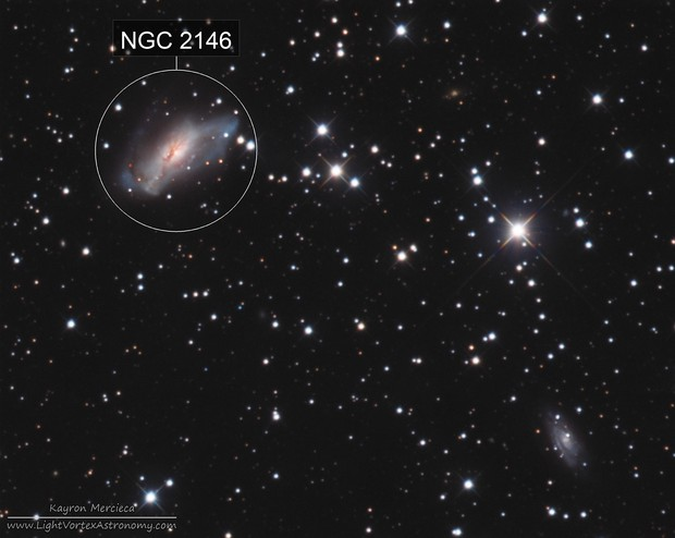 NGC2146 Dusty Hand Galaxy in LRGB