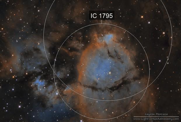 NGC896 Fish Head Nebula in Narrowband Hubble Palette