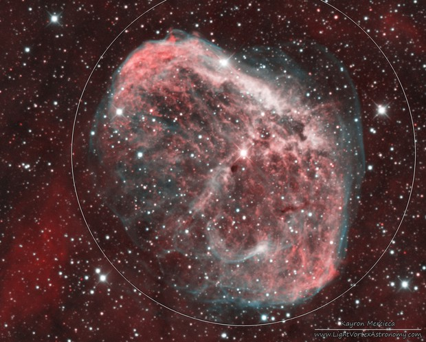 NGC6888 Crescent Nebula in Narrowband Bicolour Palette