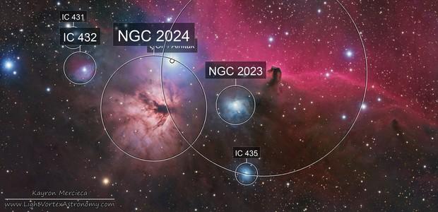 NGC2024 Flame Nebula and B33 Horsehead Nebula in RGB