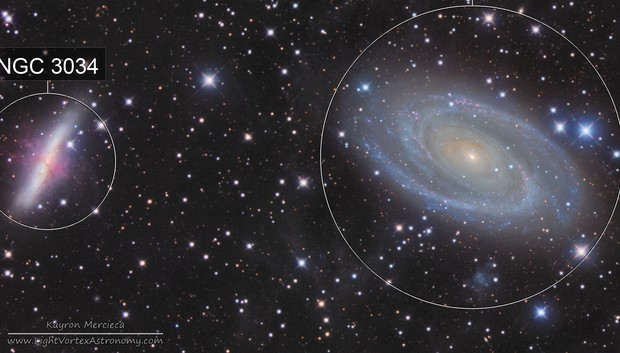 M81 and M82 Bode's Nebula in LRGB