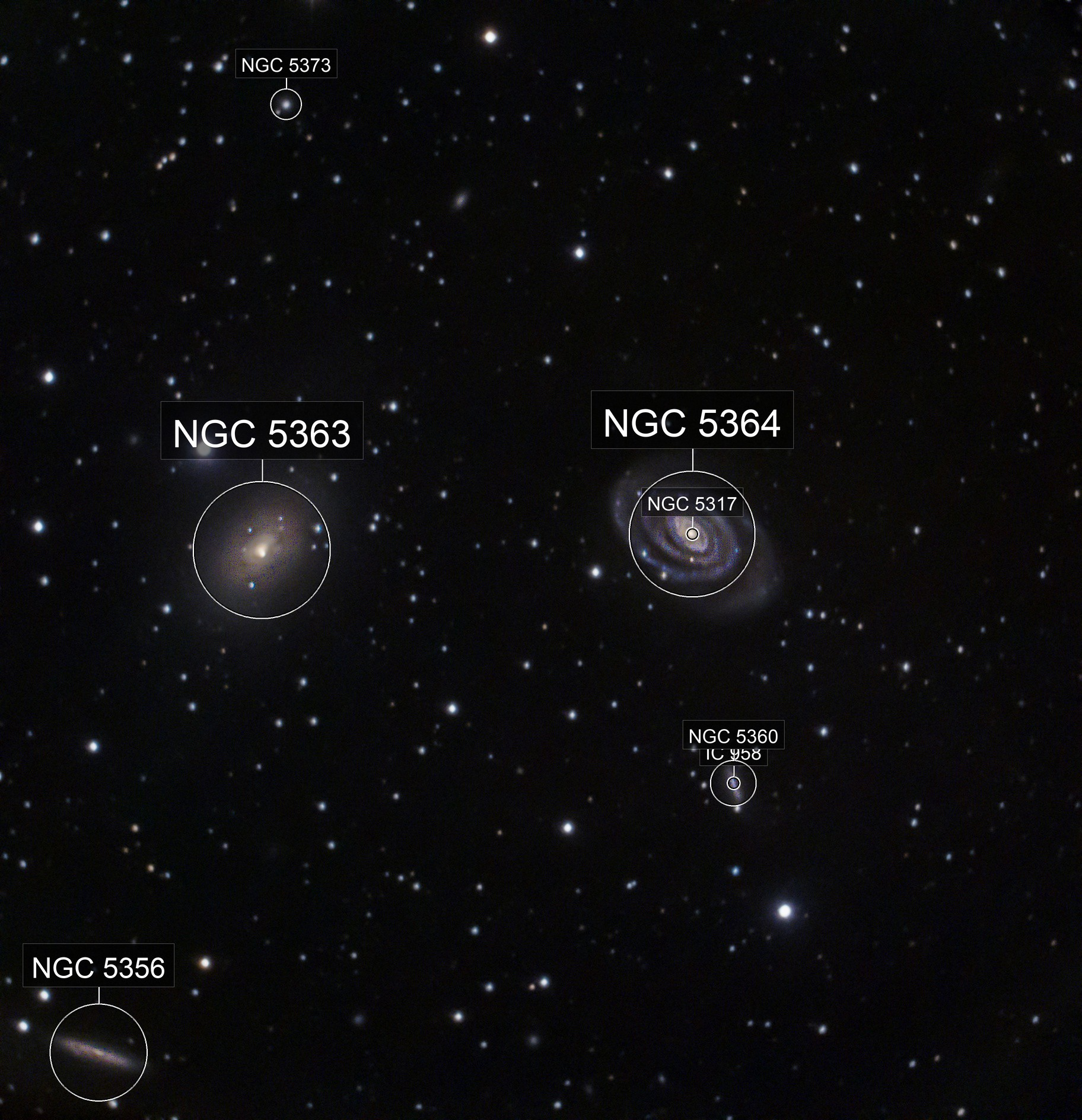 NGC 5363 & NGC 5317 in the constellation Virgo.