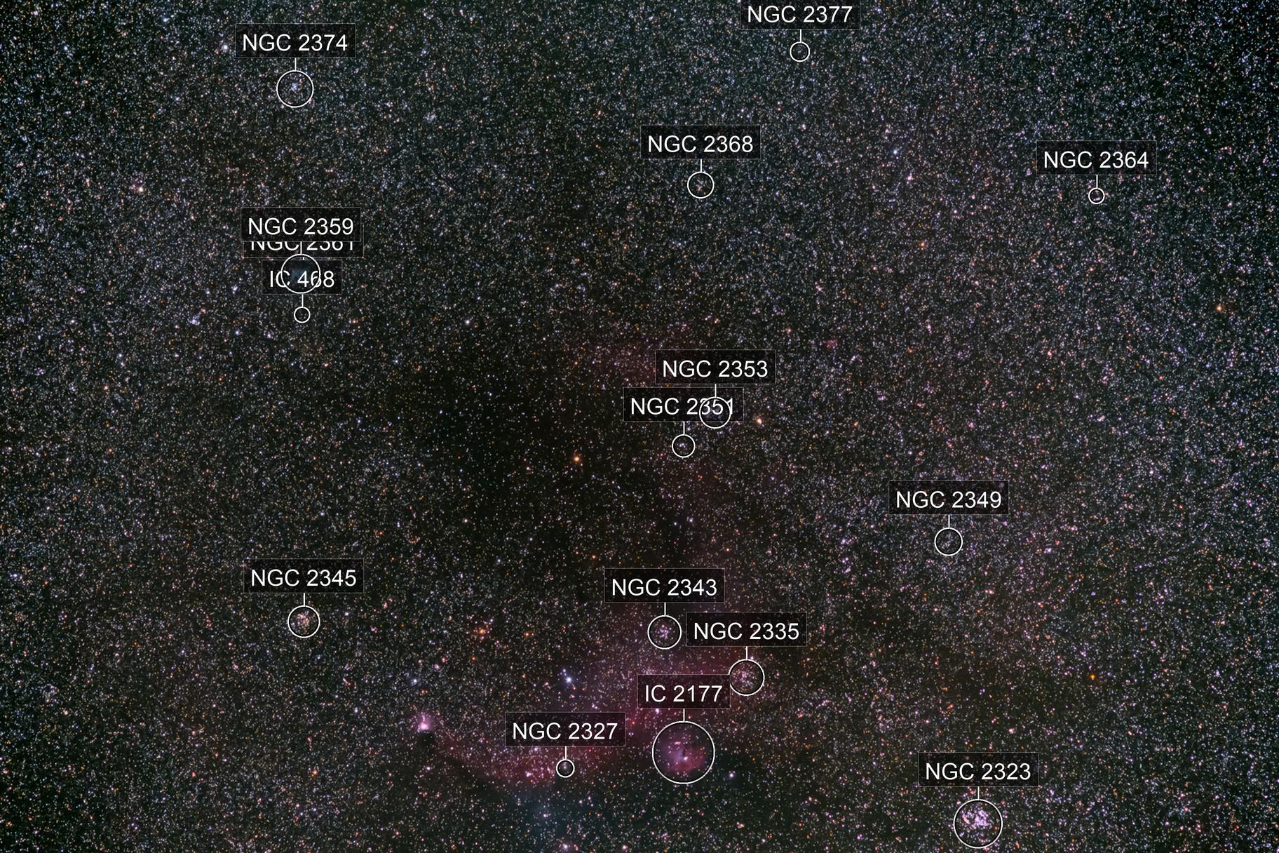 IC 2177 & NGC 2359