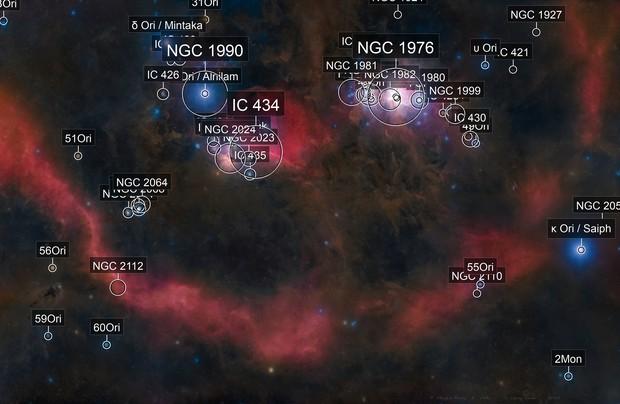 A starless Barnard's Loop ——— mosaic 16 panes