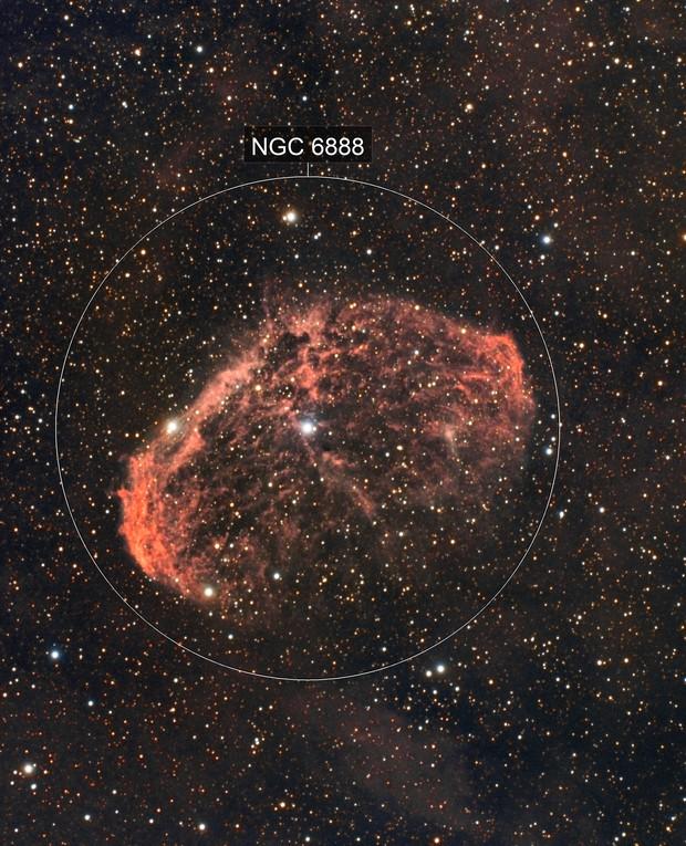 NGC6888 - Crescent Nebula (HaRGB / OSC)