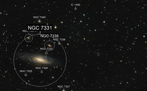 NGC7331 - Deer Lick Group (via OSC)