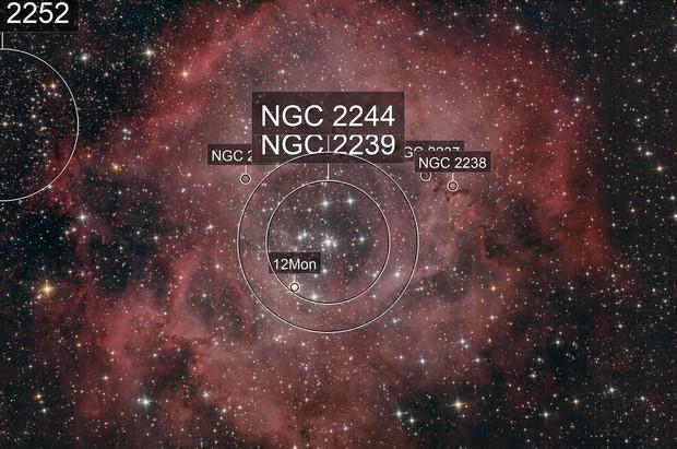 The Rossete Nebula (Caldvel 49) in Monoceros