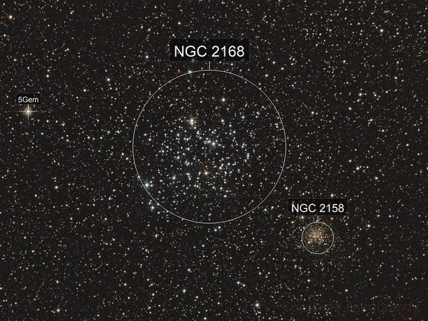 """offener Sternhaufen M 35 mit """"Begleiter"""" NGC 2158 - reloaded"""