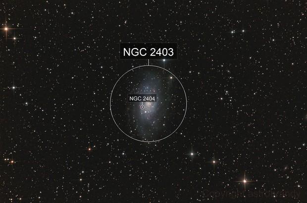 Galaxie NGC 2403 im Sternbild Giraffe (Camelopardalis)