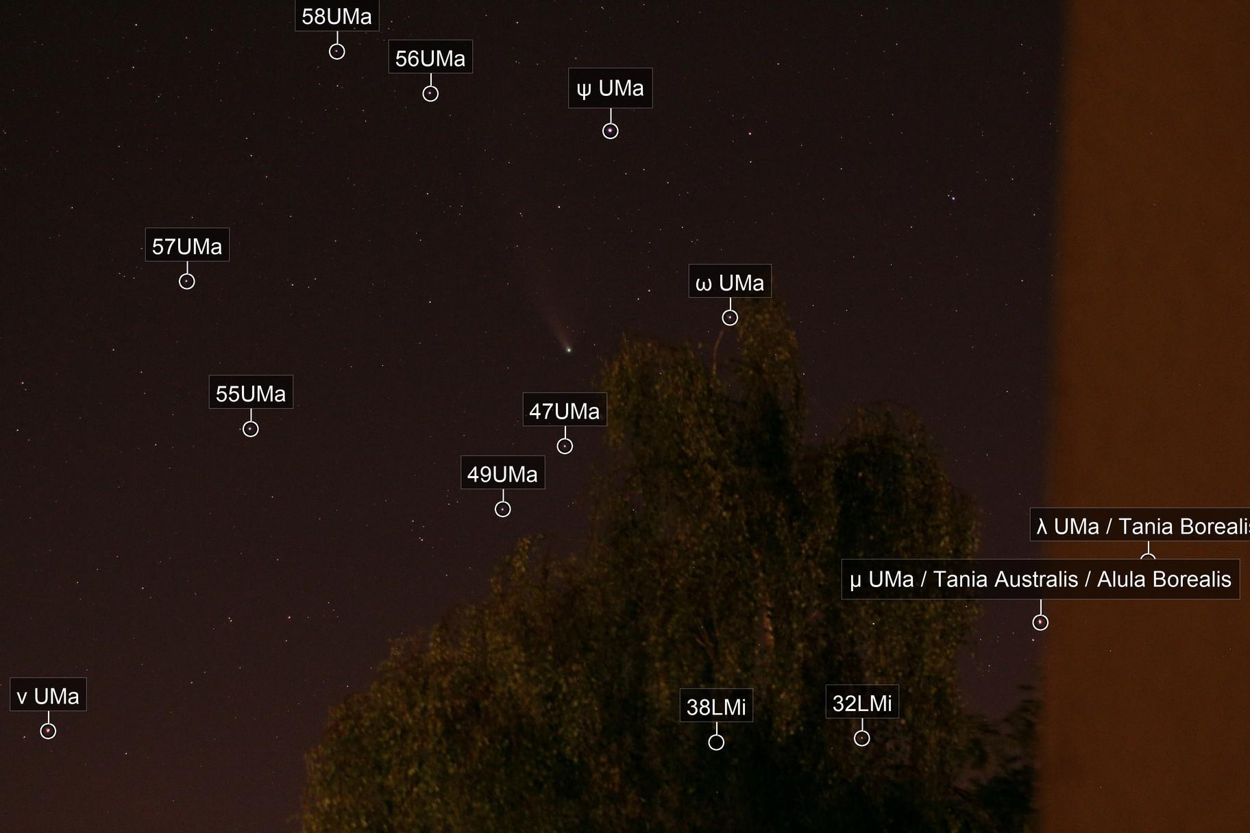 Komet C/2020 F3 Neowise (Einzelframe vom heimischen Balkon)