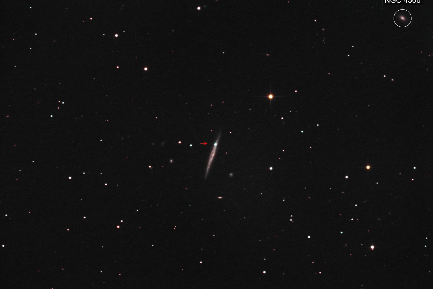 Supernova 2021hiz in IC3322A