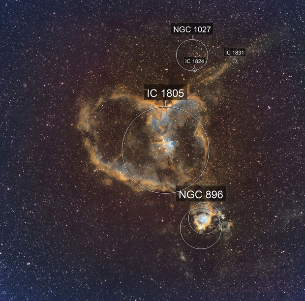 IC 1805 in HSO narrowband