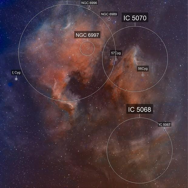 NGC 7000 North American Nebula in Narrowband SHO
