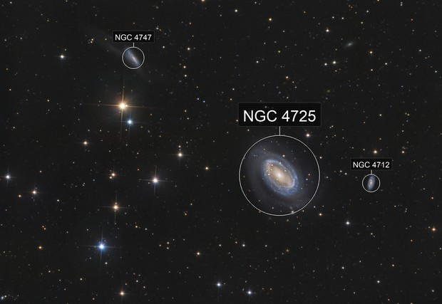 NGC 4725 and friends