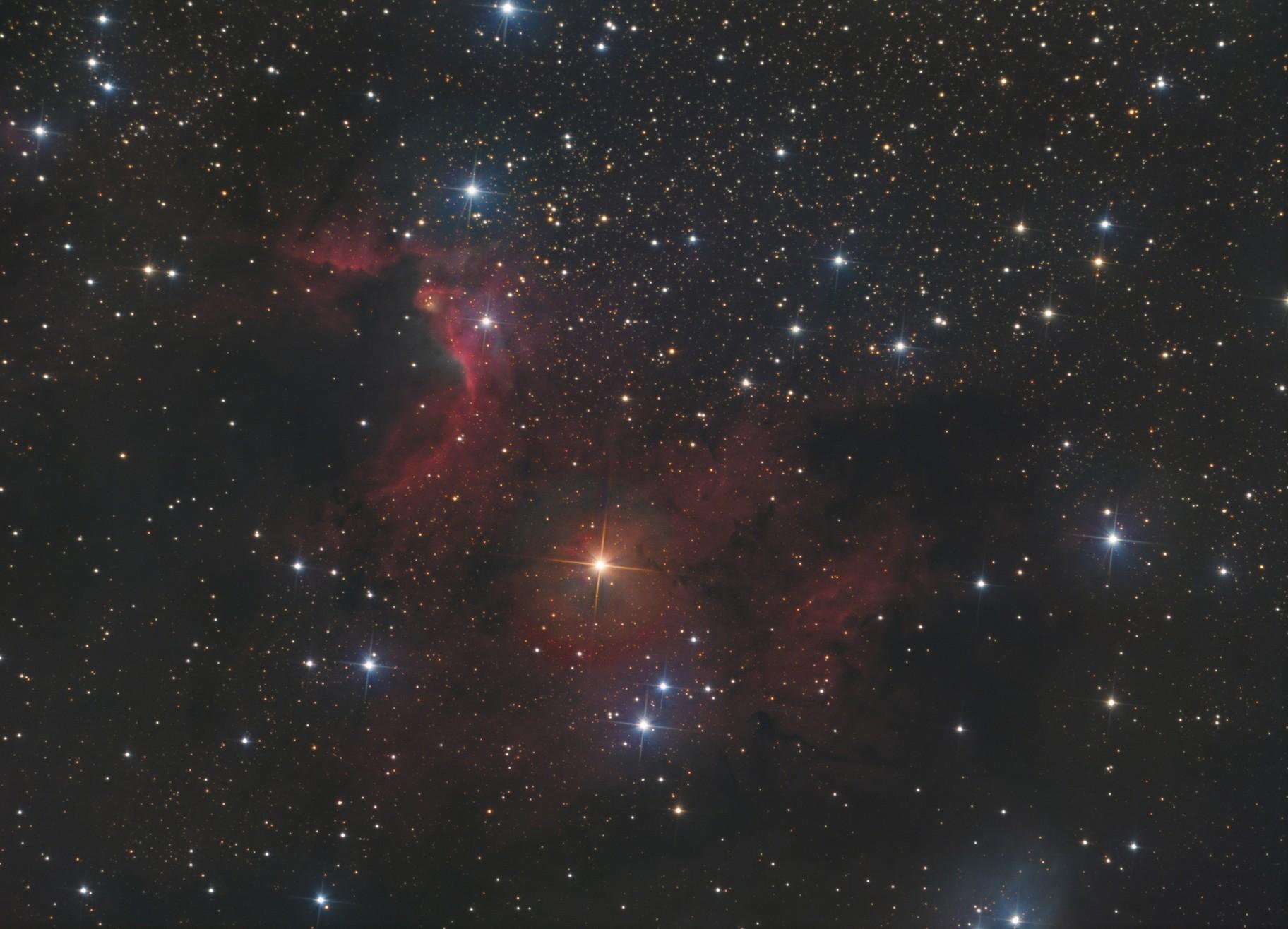 Cave nebula HaLRGB