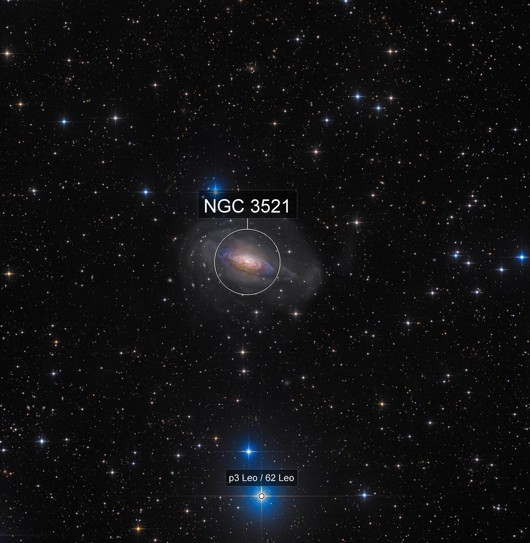 NGC 3521 Ultra deep View