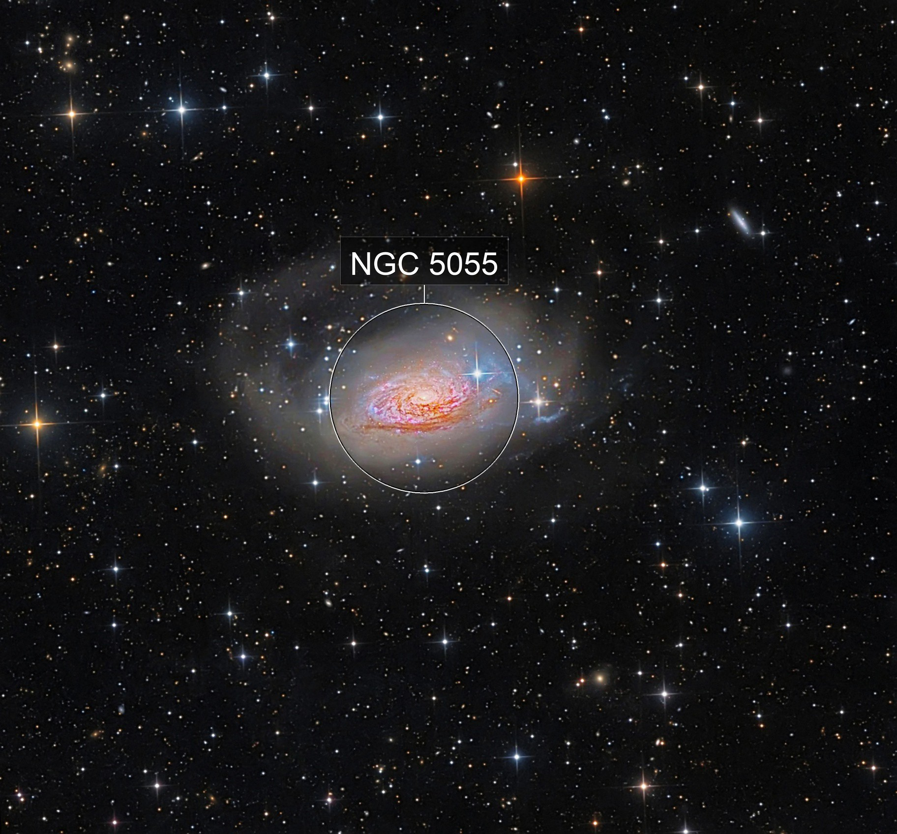 m63 with tidal streams and halo