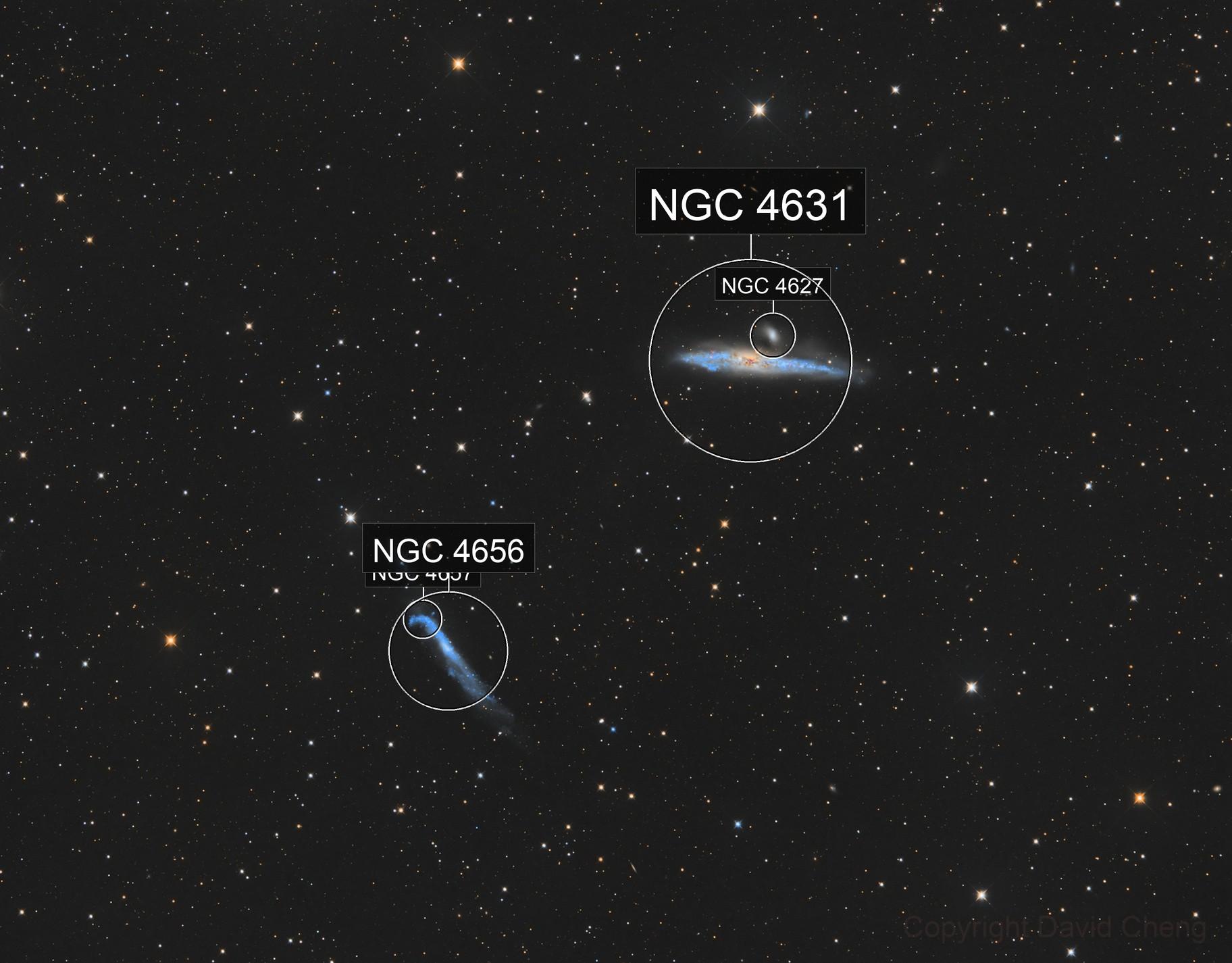 NGC4631 & NGC4656