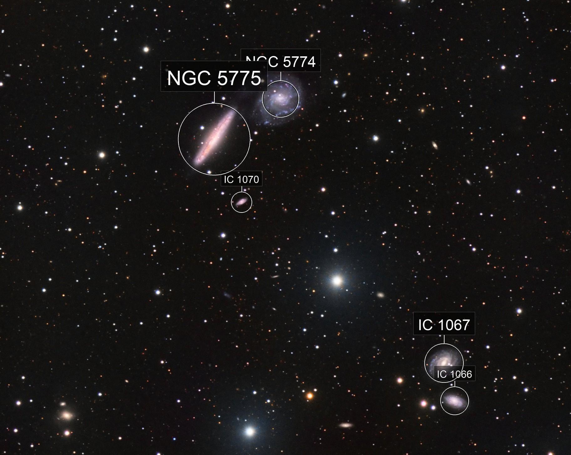 NGC5774, NGC5775, IC1066 & IC1067