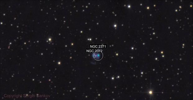 NGC 2371, Planetary Nebula in Gemini.