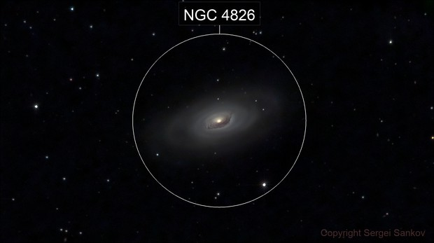 M64. The Black Eye Galaxy