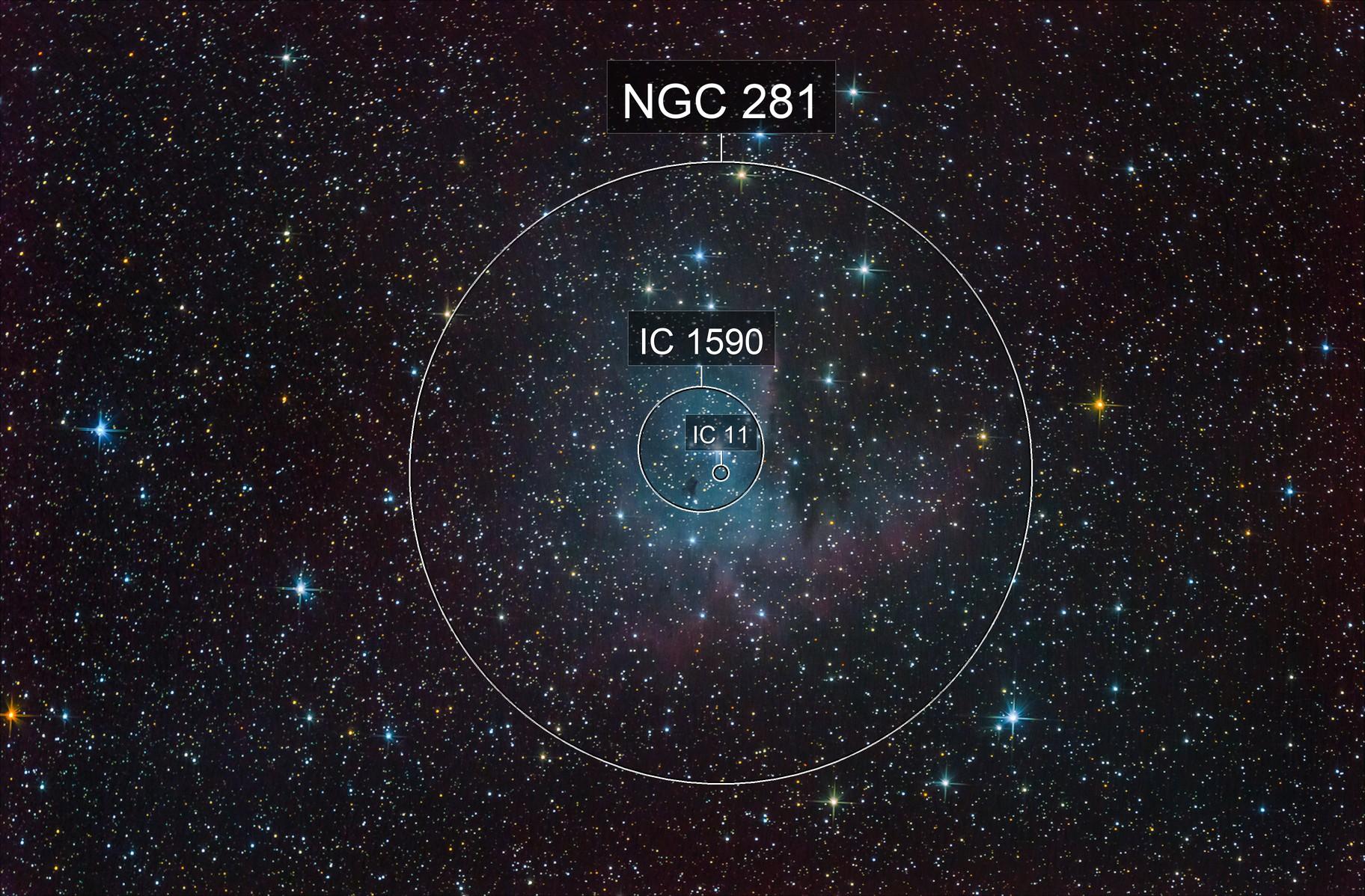 NGC281. Pacman Nebula.