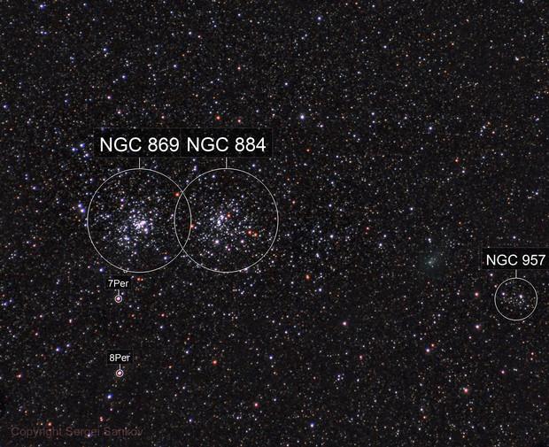 Comet C/2017 T2 (PANSTARRS) & Double Cluster in Perseus