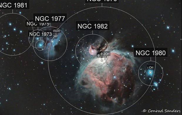 M42 Orion and Running Man Nebulas