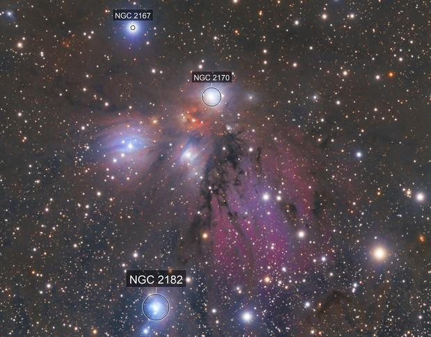 NGC 2170 reflection nebula in Monoceros constellation