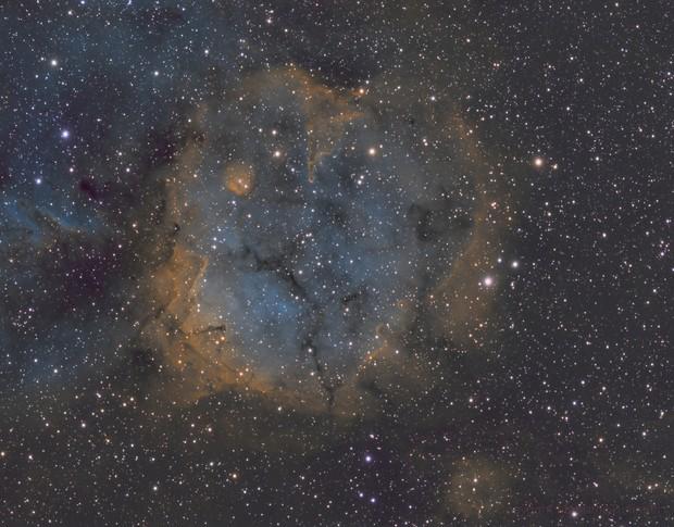 SH2-284 Nebula & open star cluster Dolidze 25 in Monoceros constellation