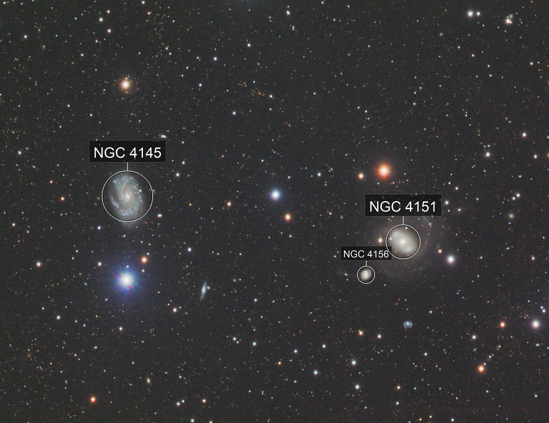 NGC4151 & NGC4145 in Canes Venatici L_RGB