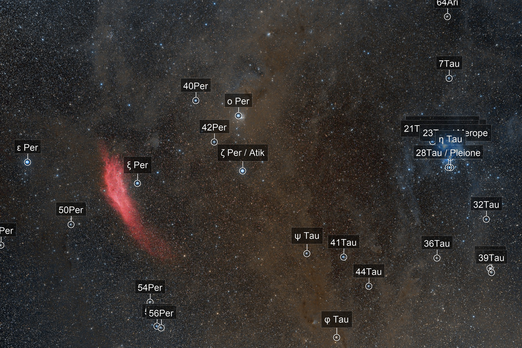 NGC1499&M45