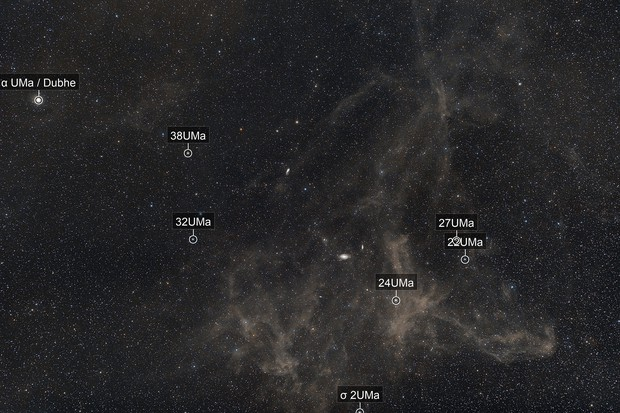 Integrated flux nebula M81 M82