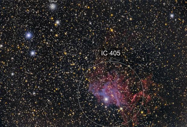 Flaming Star Nebula with Explore Scientific 102