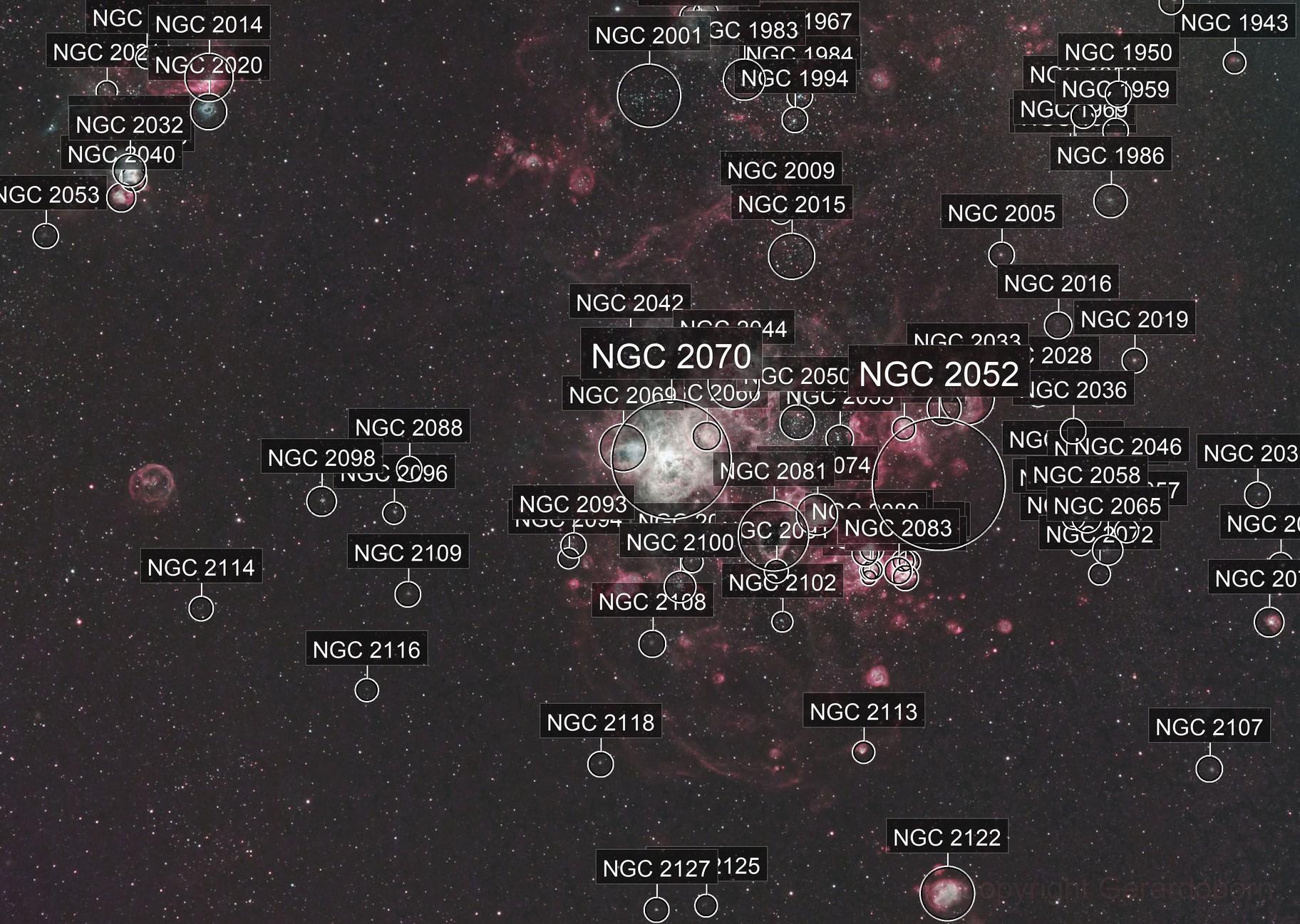 Tarantula Nebula and surrounds