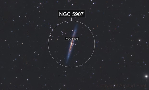 Knife Edge or Splinter Galaxy  - NGC 5907 - Celestron 8