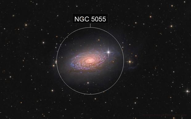 M63 - the Sunflower galaxy - in Canes Venatici