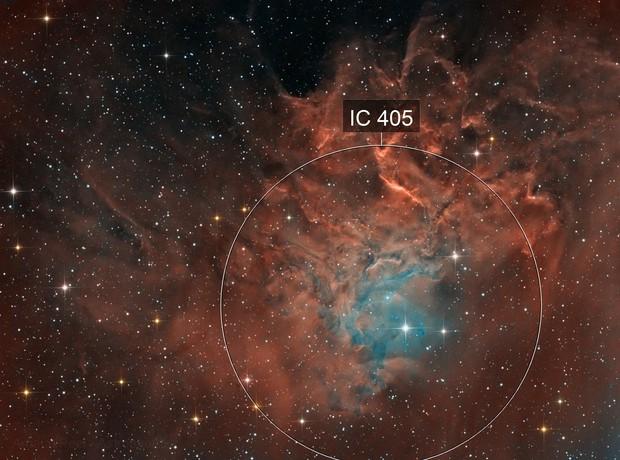 Flaming Star Nebula IC405 in Auriga -version 2