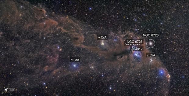 Corona Australis Wide field  - NGC6726